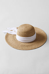 Women's Natural Braid Raffia Big Brim Hat