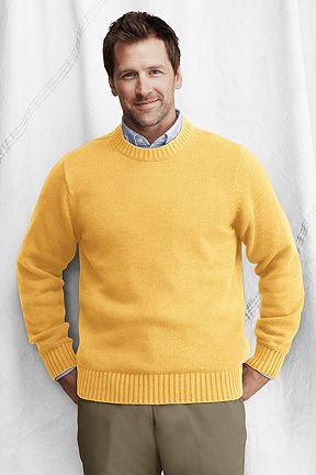 Cotton Crewneck Sweater 428121: Colonial Yellow