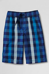 Boys' Plaid Swim Trunks