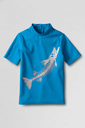 Boys' Short Sleeve Graphic Rash Guard