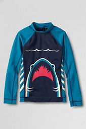Boys' Long Sleeve Shark Graphic Rash Guard