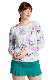 Women's Island Floral Crewneck Swim Tee Cover-up