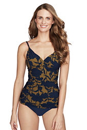 Women's Shape & Enhance Floral Surplice Tankini Top