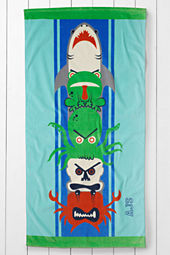 Kids' Totem Velour Beach Towel