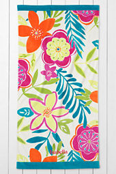Kids' Floral Velour Beach Towel