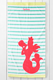 Kids' Mermaid Velour Beach Towel