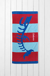 Kids' Fish Skeleton Mini Beach Towel