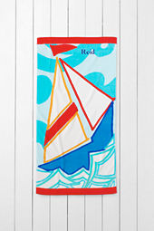 Kids' Sailboat Mini Beach Towel