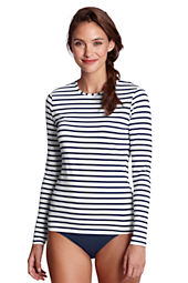 Women's Stripe Crewneck Swim Tee Cover-up