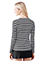 Women's Regular Stripe Crew Neck Swim Tee Cover-up