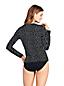 T-Shirt de Bain à Manches Longues Rayé, Femme Stature Standard