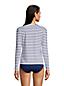 Gestreiftes Bade-Langarmshirt für Damen