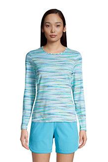 T-Shirt de Bain à Manches Longues Imprimé, Femme