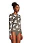 T-Shirt de Bain à Manches Longues Imprimé, Femme Stature Petite