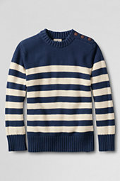 Little Boys' Submarine Striped Cotton Crew Neck Jumper