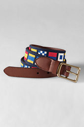 Men's Nautical Needlepoint Belt