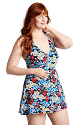 Women's Plus Size Seaside Resort Daisy Swimdress
