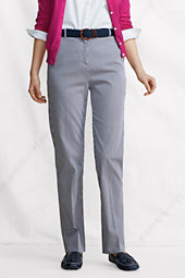 Women's Everyday Bedford Striped Back-elastic Trousers