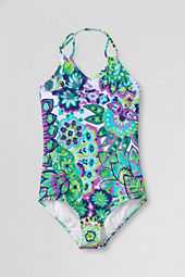 Girls' Butterfly Gardens One Piece Swimsuit