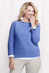 Women's Plus Size Long Sleeve Drifter Boatneck Sweater