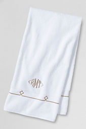 Supima Embroidered Diamond Washcloth, Hand & Bath Towel