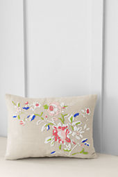 "12"" x 16"" Beaded Floral Decorative Pillow Cover or Insert"