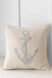 "18"" x 18"" Metallic Anchor Decorative Pillow or Insert"