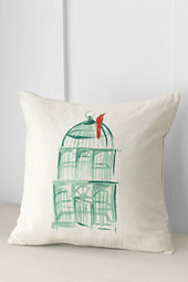 "18"" x 18"" Birdcage Decorative Pillow Cover or Insert"