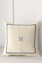 "School Uniform 18"" x 18"" Ribbon Frame Decorative Pillow Cover"