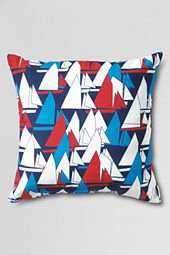 "18"" x 18"" Outdoor Sailboat Decorative Pillow"