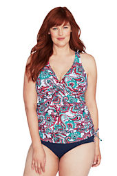 Women's Beach Living Tahiti Paisley Halter Tunic Top