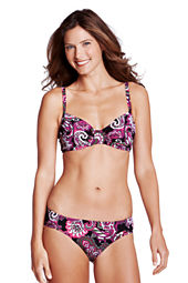 Women's Beach Living Tahiti Paisley Shirred Bikini Top