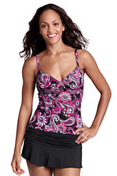 Women's Beach Living Tahiti Paisley Shirred Tankini Top