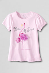 Girls' Short Sleeve Picot Edge Viva Flamingo Graphic T-shirt