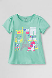 Girls' Short Sleeve Picot Edge Paris Poodle Graphic T-shirt