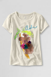 Girls' Short Sleeve Picot Edge Koala Graphic T-shirt