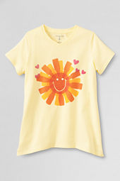Girls' Short Sleeve Soda Bottle Sun Curved Hem Graphic T-shirt