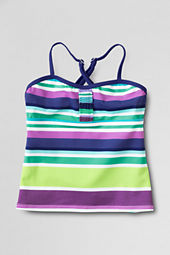 Girls' Butterfly Gardens Ruffle Tankini Top