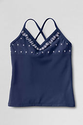 Girls' Cape May Cutie Eyelet Tankini Top