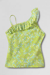 Girls' Hula Splash Ruffle Shoulder Tankini Top