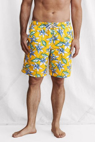 Men's Regular Patterned 9˝ Swim Shorts