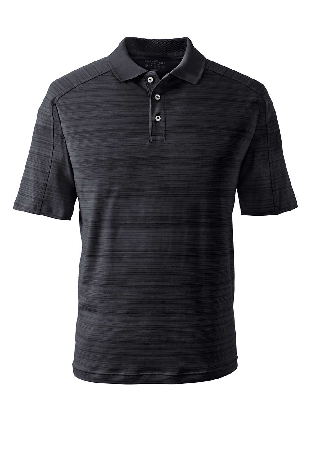 1ccef53d09 Men's Short Sleeve Tonal Stripe Polo from Lands' End