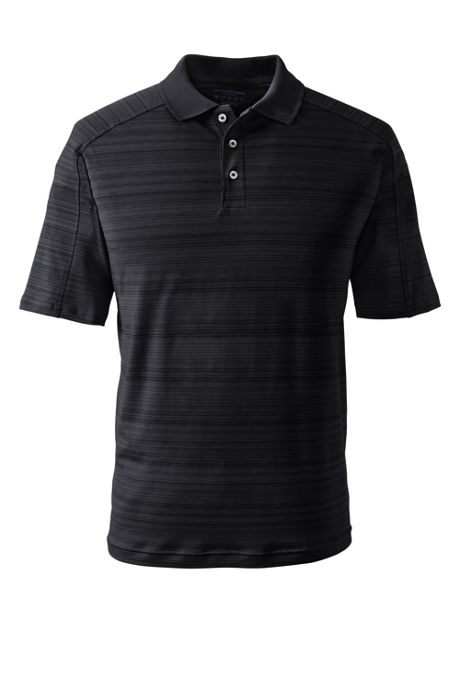 Men's Custom Embroidered Logo Short Sleeve Stripe Active Polo Shirt
