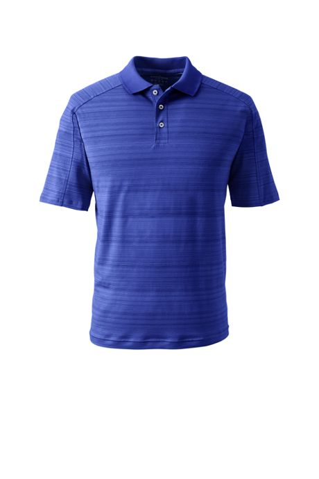 School Uniform Men's Big Short Sleeve Tonal Stripe Polo