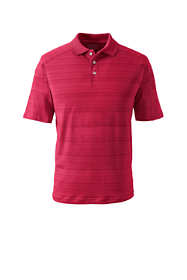 Men's Big Short Sleeve Tonal Stripe Polo