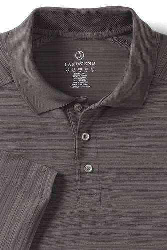 Men's Big Short Sleeve Tonal Stripe Polo