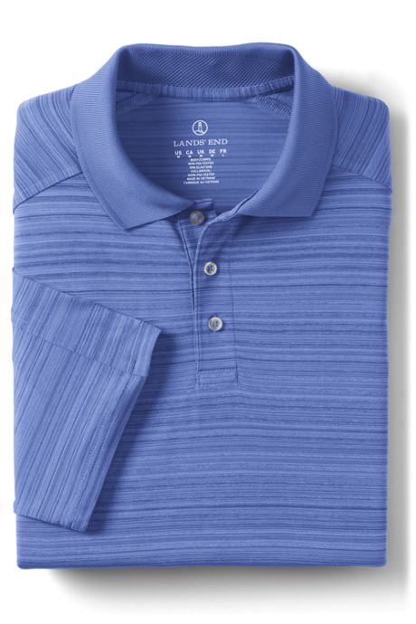 Men's Short Sleeve Tonal Stripe Polo