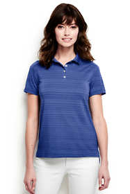 Women's Plus Size Short Sleeve Tonal Stripe Polo