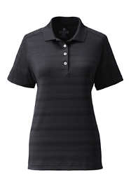 Women's Short Sleeve Tonal Stripe Polo