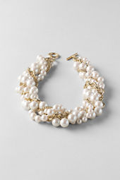 Women's Pearl and Chain Multi Strand Necklace